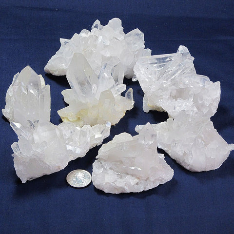 7 Arkansas Quartz Crystal Clusters | Blue Moon Crystals & Jewelry