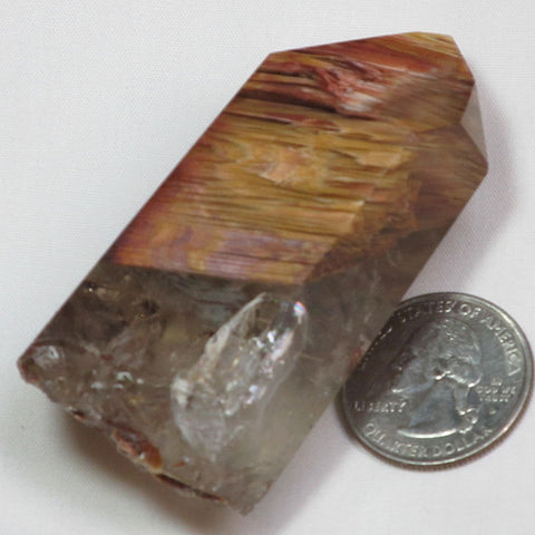Rare Polished Amphibole Angel Wing Phantom Quartz Crystal