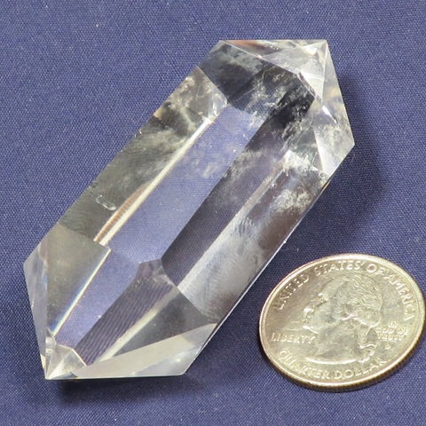 Polished Clear Quartz Double Terminated Generator Point