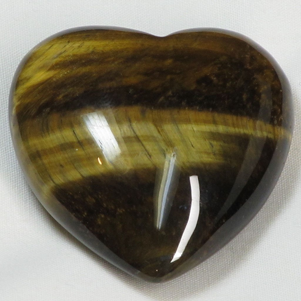 Polished Tigereye Heart | Blue Moon Crystals & Jewelry