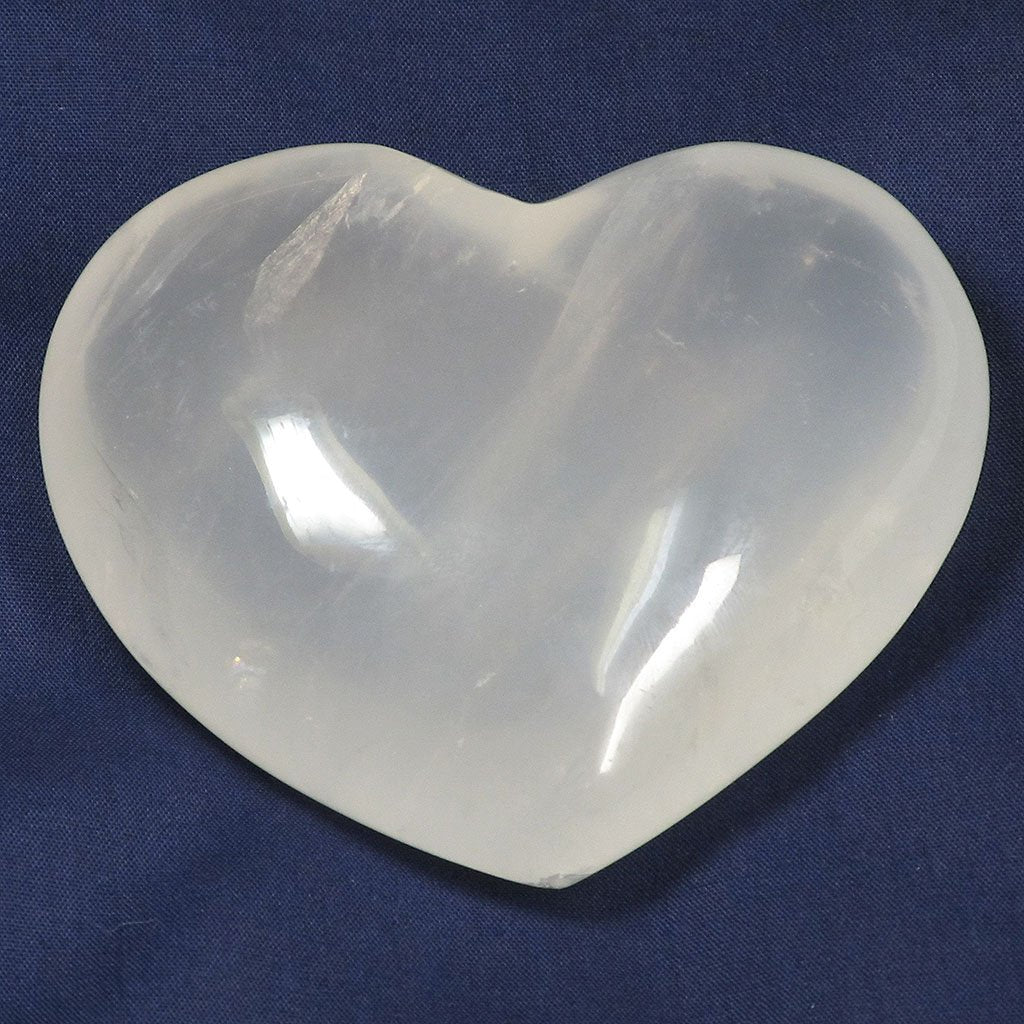 Polished Girasol Quartz Heart | Blue Moon Crystals & Jewelry