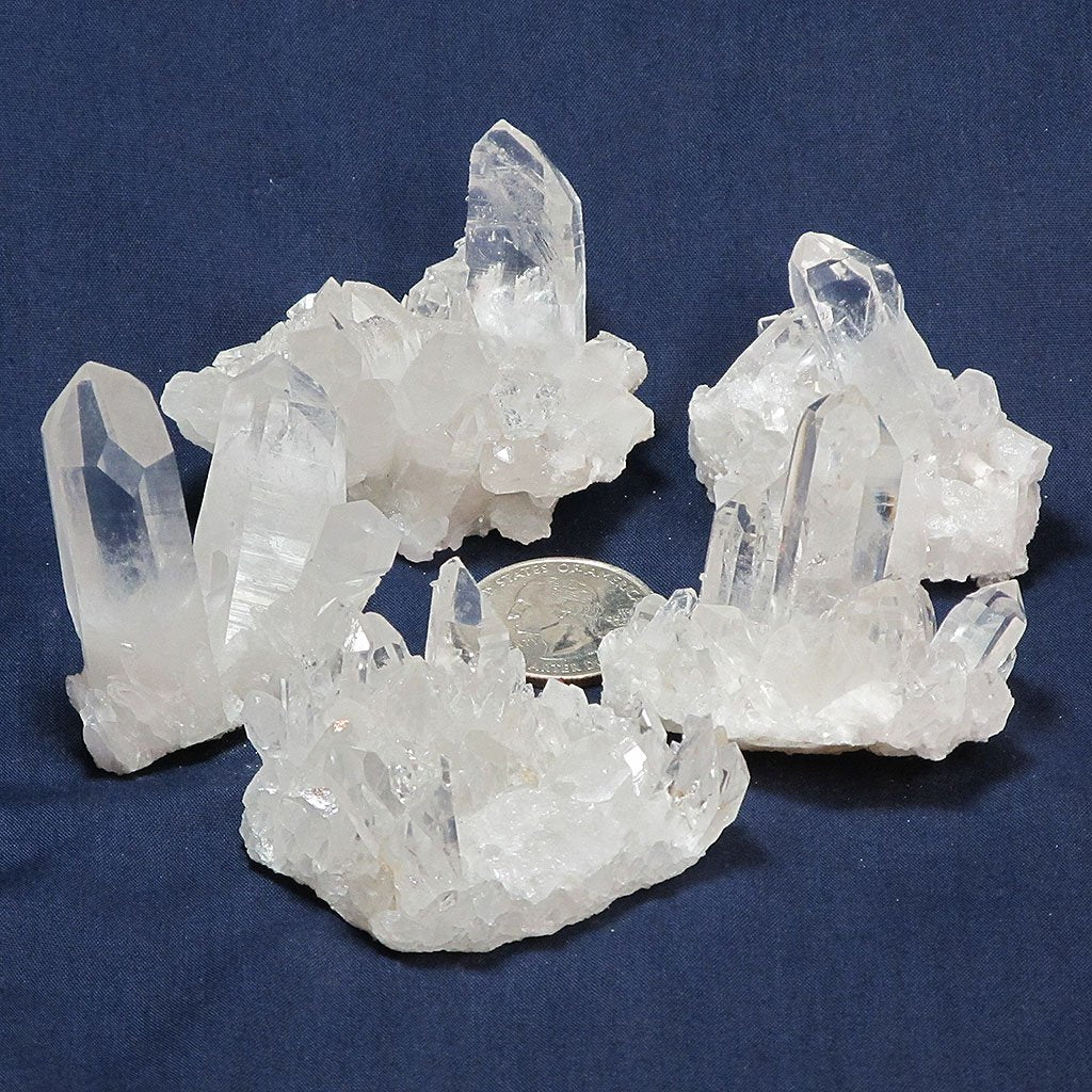 5 Arkansas Quartz Crystal Clusters | Blue Moon Crystals & Jewelry