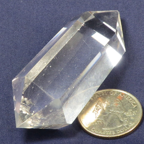 Polished Clear Quartz Crystal Generator Double Terminated Point
