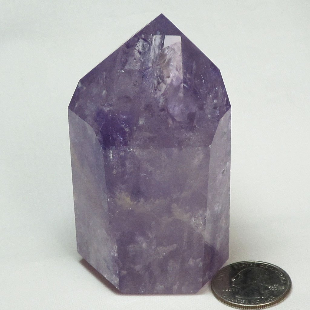 Polished Amethyst Point with Rainbows | Blue Moon Crystals