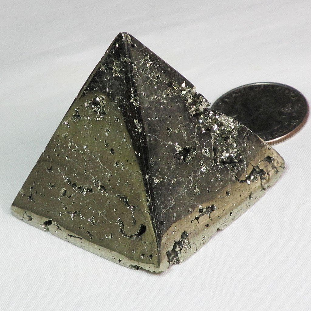 Polished Pyrite Pyramid | Blue Moon Crystals & Jewelry