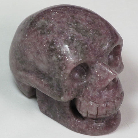 Hand Carved Lepidolite Skull | Blue Moon Crystals & Jewelry