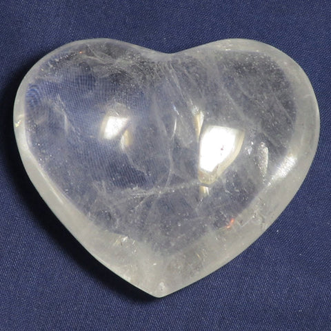 Polished Clear Quartz Heart | Blue Moon Crystals & Jewelry