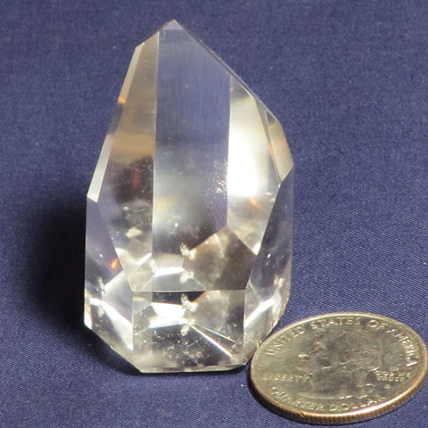Polished Clear Quartz Crystal Channeler Point