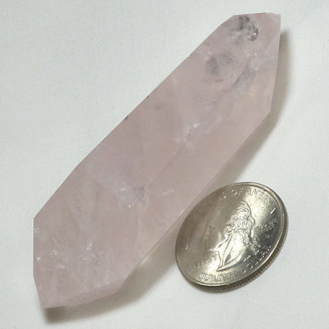 Polished Rose Quartz Crystal Point | Blue Moon Crystals