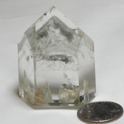 Polished Quartz Crystal Point with a Phantom