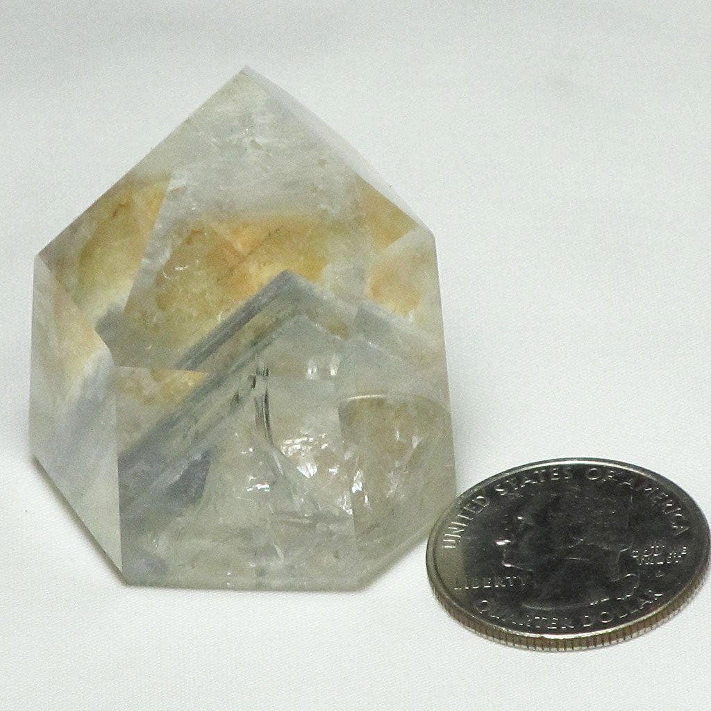 Polished Quartz Crystal Point w/ Phantoms & Iron Oxide Included