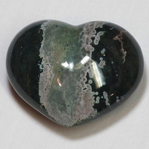 Polished Ocean Jasper Heart | Blue Moon Crystals & Jewelry