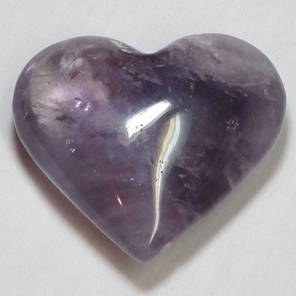 Polished Amethyst Heart | Blue Moon Crystals & Jewelry