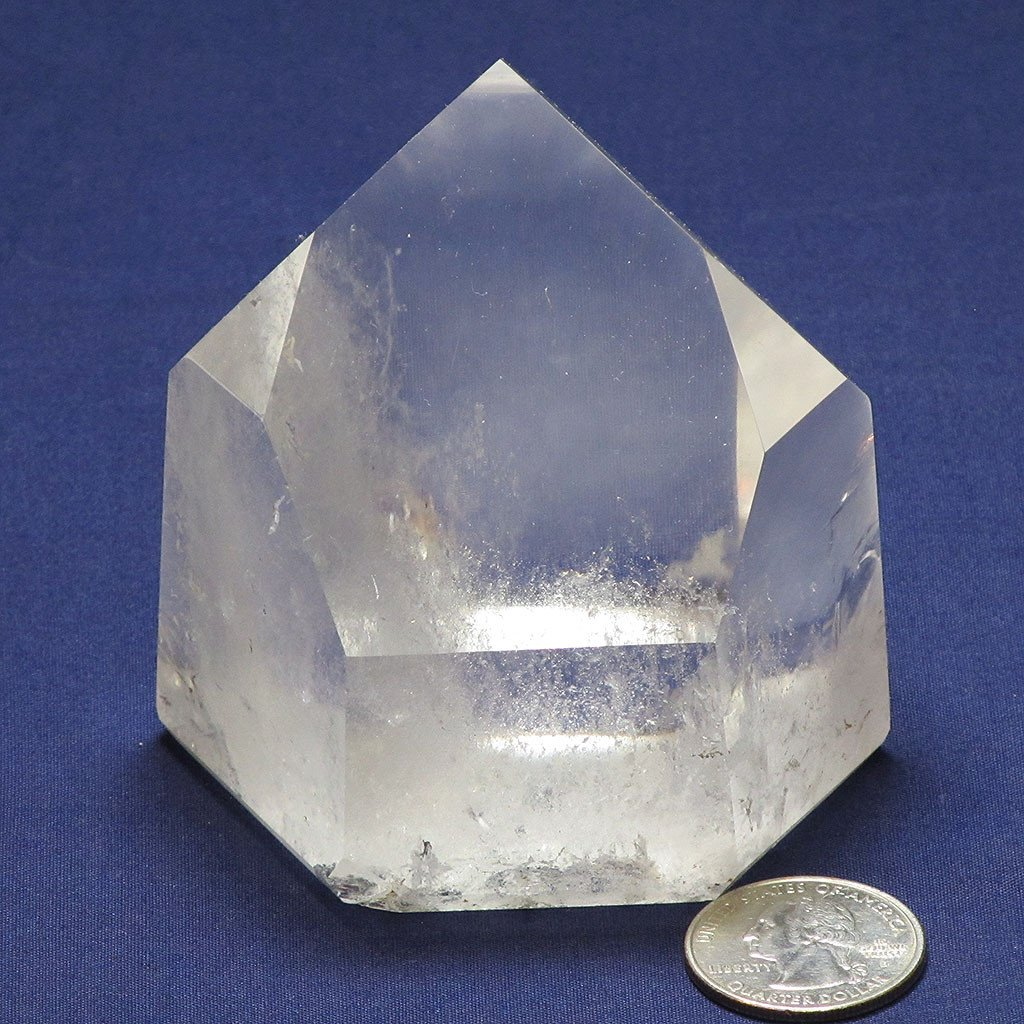 Polished Quartz Crystal Channeling Point