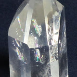 Polished Quartz Crystal Point with Rainbow