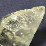 Etched quartz crystal face with Rainbow