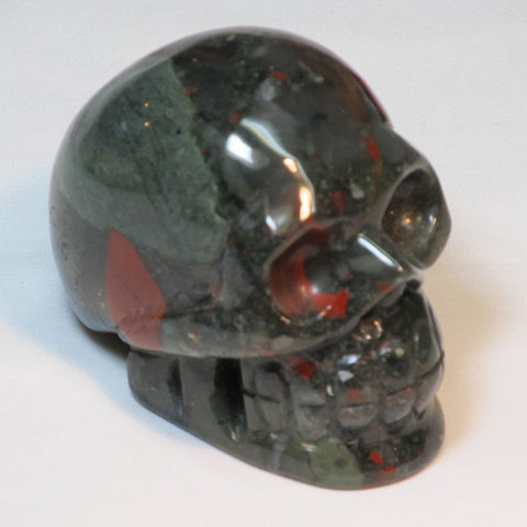 Carved Bloodstone Skull | Blue Moon Crystals & Jewelry
