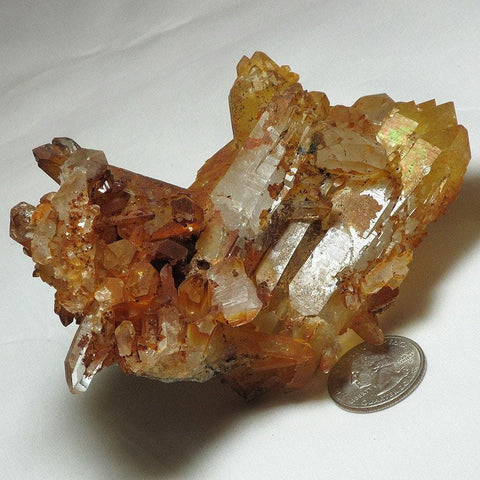 Natural Un-Cleaned Quartz Crystal Cluster