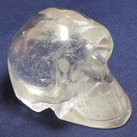 Carved Clear Quartz Skull