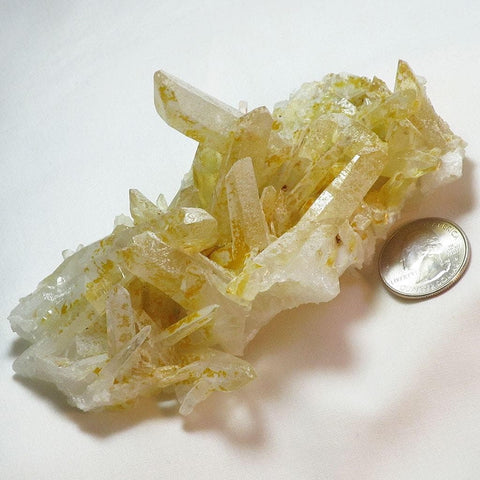 Lemon Healer Quartz Crystal Cluster from Arkansas