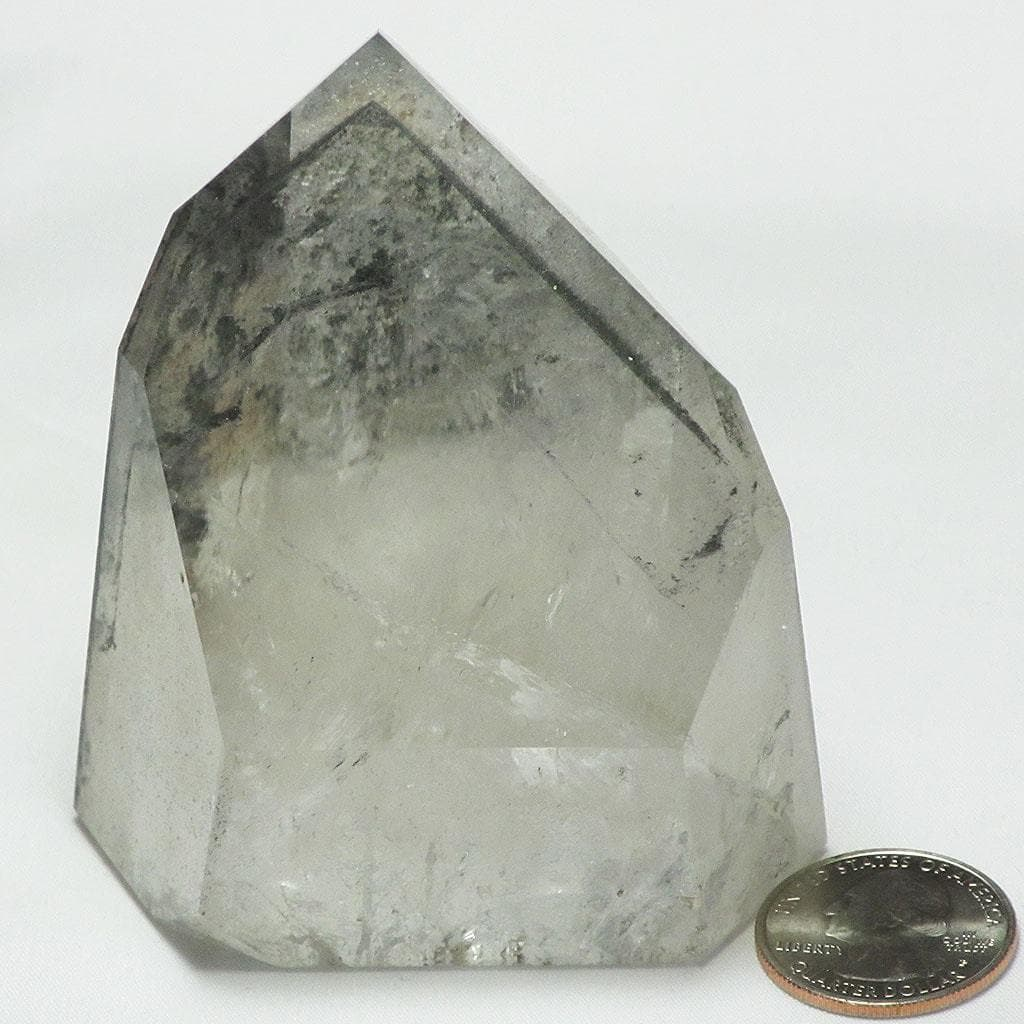 Polished Channeler Phantom Quartz Crystal Point