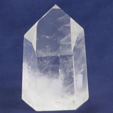 Polished Quartz Crystal Channeling Point with Time-Link Activations
