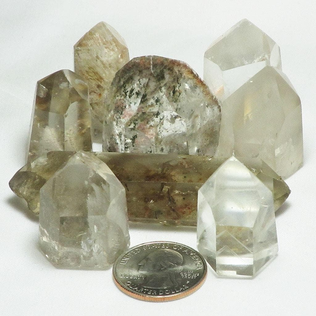 Polished Quartz Crystal Point with Phantom or Inclusion