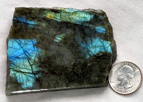 1 Side Polished Labradorite Slab