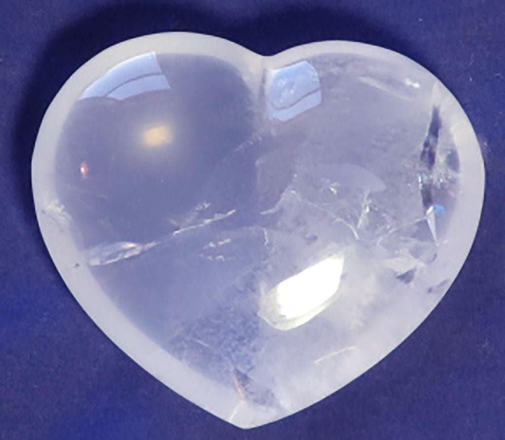 Polished Girasol Quartz Heart