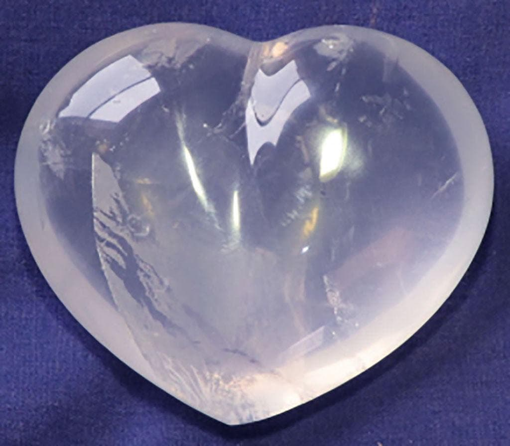 Polished Girasol Quartz Crystal Heart