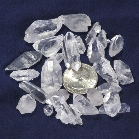25 A Grade Arkansas Quartz Crystal Double Terminated Points