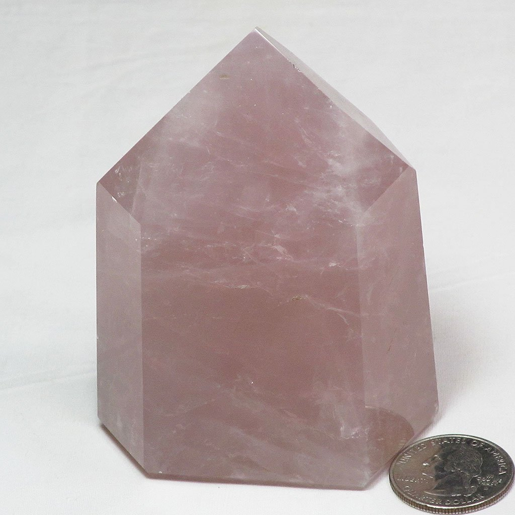 Polished Rose Quartz Crystal Point | Blue Moon Crystals & Jewelry