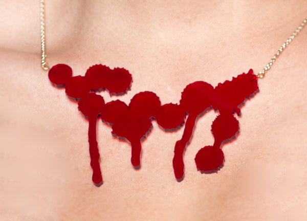 Splatter Necklace Red