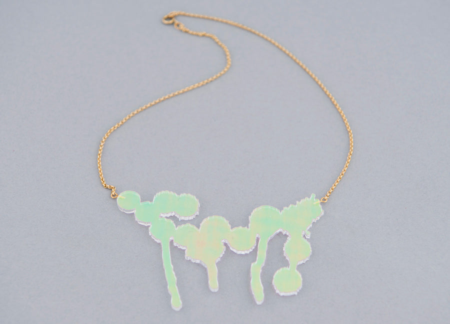 Splatter Necklace Iridescent