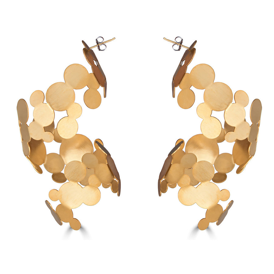 Cascading Gold Earrings