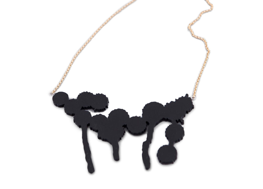 Splatter Necklace Black