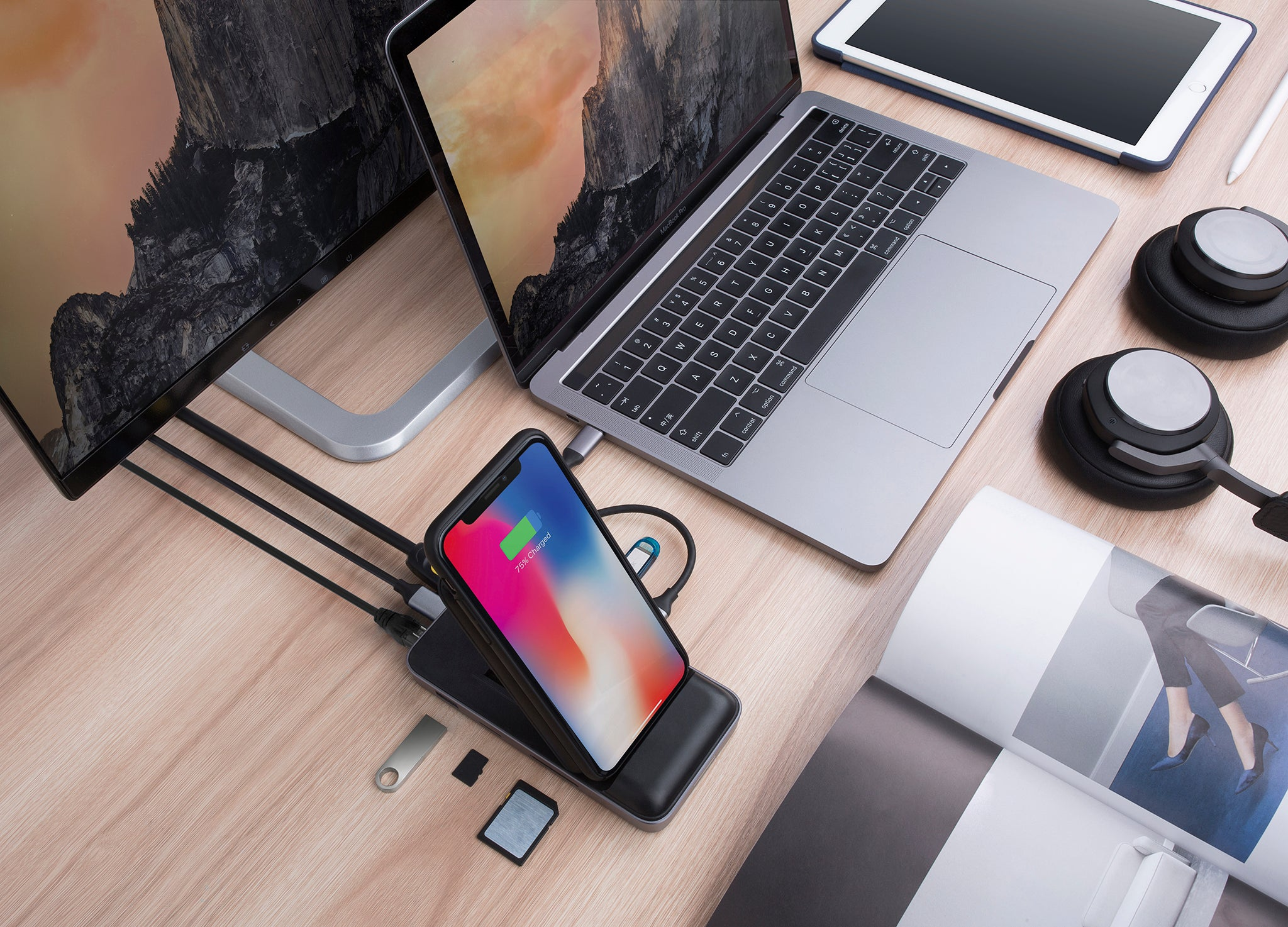 HyperDrive Wireless Charger USB-C Hub