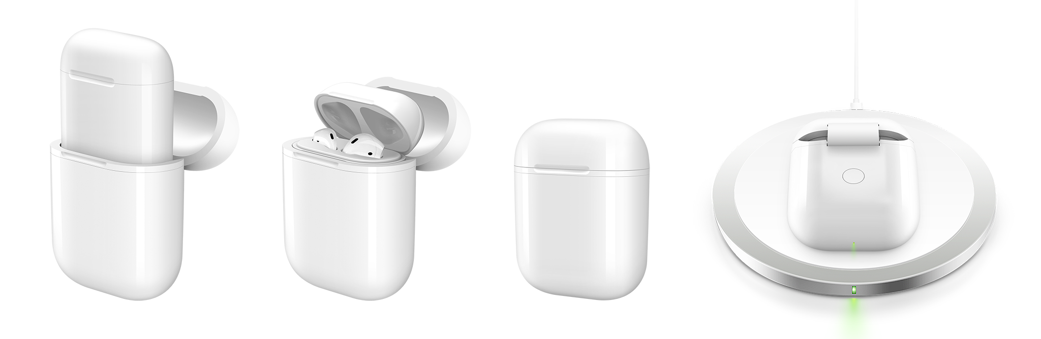 Overview of HyperJuice Wireless Charging Case for Apple AirPods