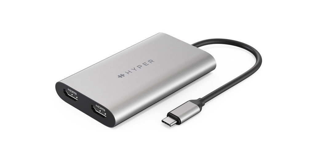 HyperDrive Dual 4K HDMI 3-in-1 USB-C Adapter