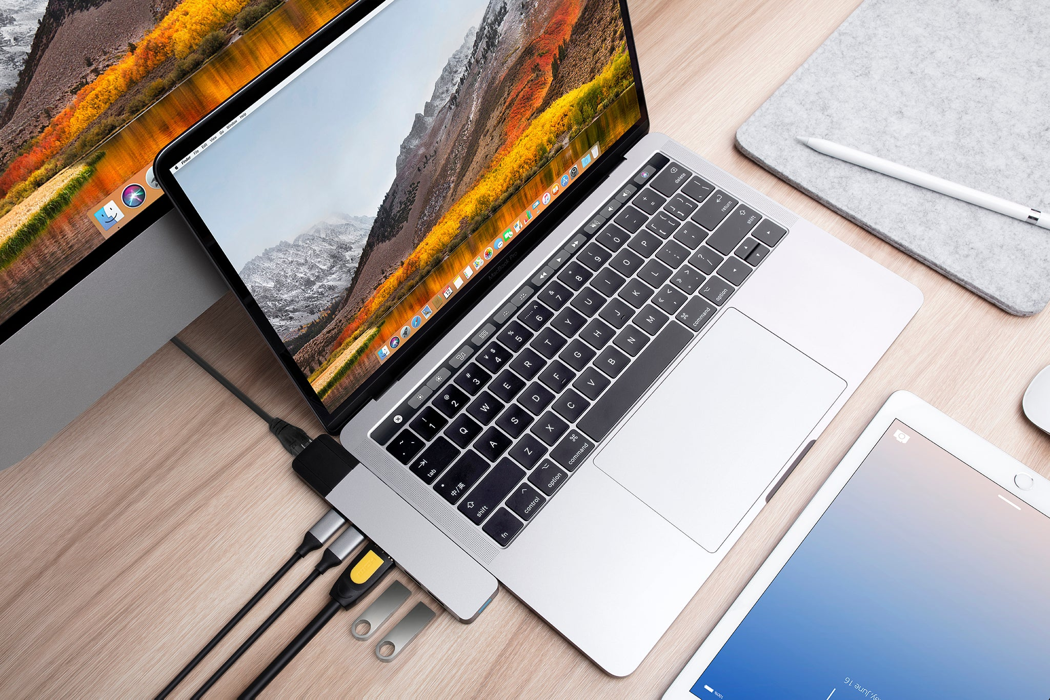 HyperDrive NET 6-in-2 USB-C Hub for MacBook Pro