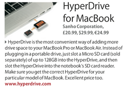 The MacBook GuideBook features HyperDrive for MacBook