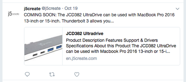 j5create announces UltraDrive, a blatant copy of HyperDrive