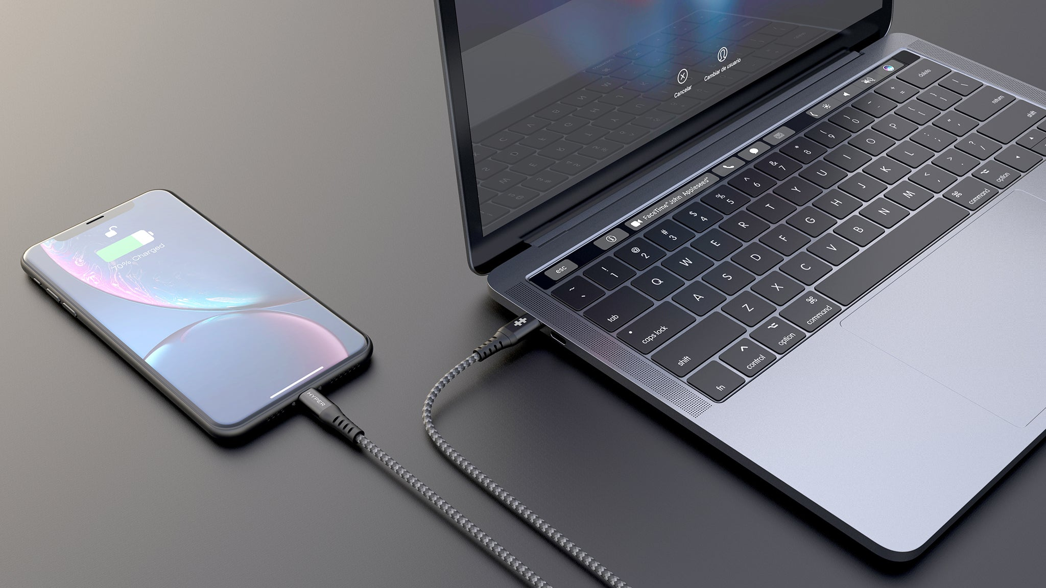 HyperDrive USB-C + Lightning Cables