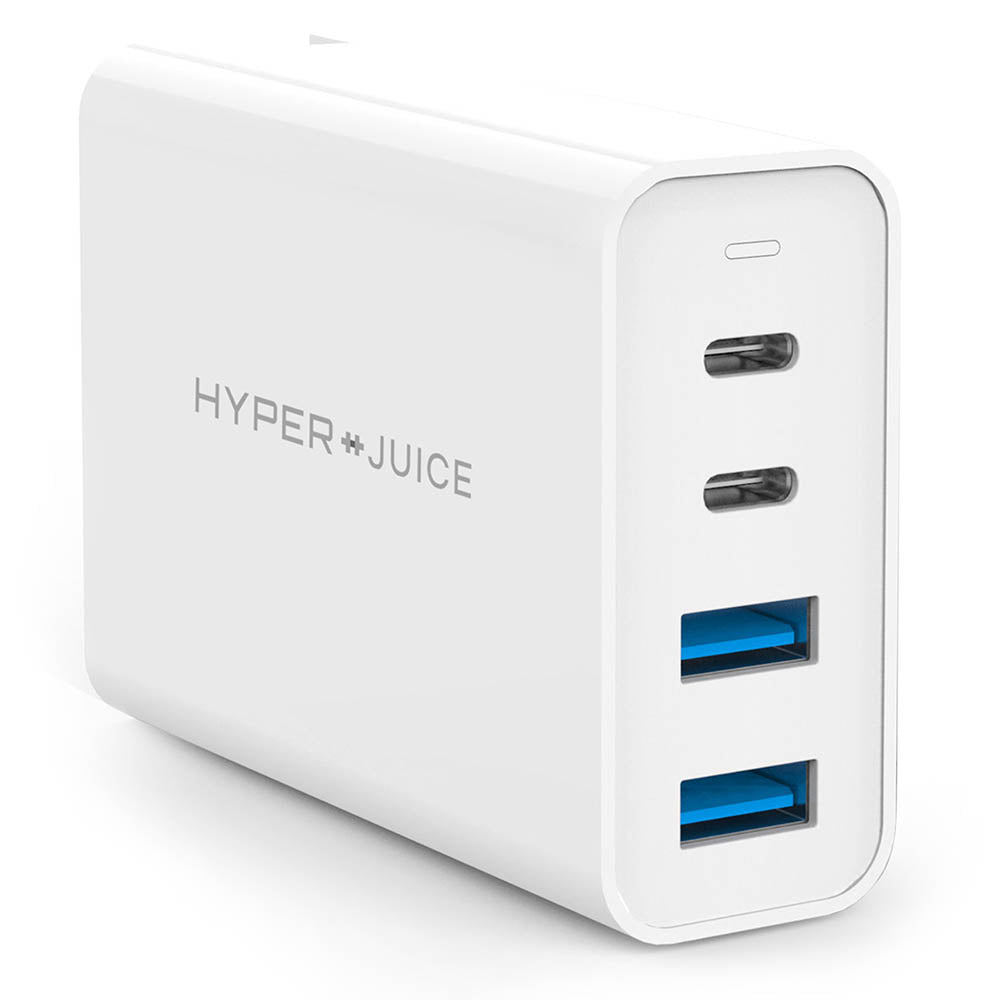 HyperJuice GaN 100W USB-C Charger — World's most crowdfunded 100W GaN charger. Quick charge 2 USB-C and 2 USB-A devices.