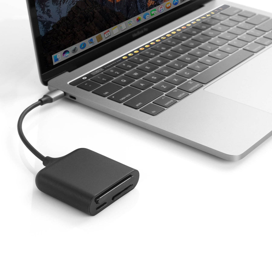 HyperDrive USB-C Pro Card Reader — for UHS-II microSD, SD 4.0, CFast card