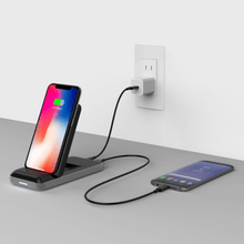 Load image into Gallery viewer, HyperJuice Wireless Charger Stand — Qi wireless charging stand for iPhone, Samsung, and all smartphones.