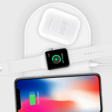 Load image into Gallery viewer, HyperJuice Wireless Charger AirPod Case — Turn any 1st or 2nd Gen AirPods charging case into a wireless charging case.