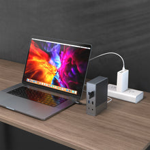 Load image into Gallery viewer, HyperDrive GEN2 18-Port USB-C Hub — 2X Speed & Power: Universal USB-C docking station for MacBook, Chromebook, and PC