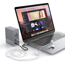 Load image into Gallery viewer, HyperDrive GEN2 12-Port USB-C Hub — 2X Speed & Power: Universal USB-C docking station for MacBook, Chromebook, and PC