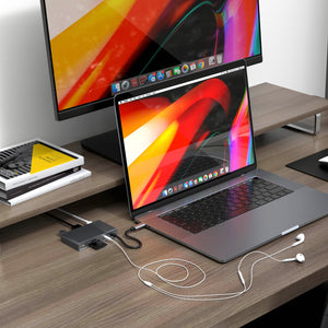 HyperDrive GEN2 6-Port USB-C Hub — 2X Speed & Power: Universal USB-C docking station for MacBook, Chromebook, and PC